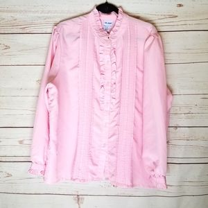 🎈Sale🎈VTG Ruffled Button Up Blouse